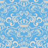 Abstract seamless blue pattern Stock Image
