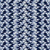 Abstract Seamless Blue Pattern Of Vertical Stripes Doodles. Stock Photography