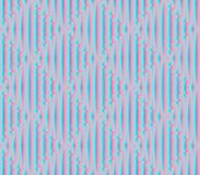 Abstract seamless blue and pink lines and squares. Abstract seamless strips and small squares of blue and pink lined in rows to form a continuous pattern Stock Photo