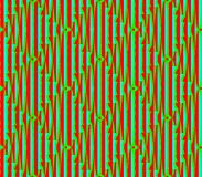 Abstract seamless blue and red and green lines and squares. Abstract seamless strips and small squares of blue and green and red lined in rows to form a Stock Photography