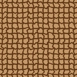 Abstract seamless brown pattern  with curled. Lines Royalty Free Stock Image