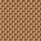 Abstract seamless brown pattern, opt art. Royalty Free Stock Photos