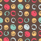 Abstract seamless chaotic pattern with urban geometric elements circle. Grunge neon texture background. Wallpaper for boys and gir Stock Photos