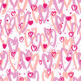 Abstract seamless chaotic pattern with urban geometric elements heart. Grunge neon texture background. Wallpaper for Royalty Free Stock Image