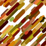 Abstract seamless chaotic rounded diagonal stripe background pattern Royalty Free Stock Images