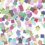 Abstract seamless chaotic square pattern background - vector graphic from multicolored rotated squares. With shadow effect Royalty Free Illustration