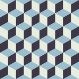 Abstract Seamless Checkered Cube Block Color Blue Pattern Background