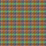 Abstract seamless checkered pattern. In blue, green, orange, pink, black, colors Royalty Free Stock Photo