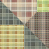 Abstract seamless checkered plaid textile design pattern backgro Royalty Free Stock Images