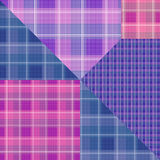Abstract seamless checkered plaid textile design pattern backgro Royalty Free Stock Photography