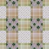 Abstract seamless checkered plaid textile pattern background Royalty Free Stock Photography
