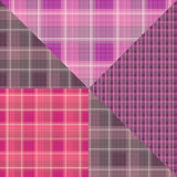 Abstract seamless checkered plaid textile pink design pattern ba Royalty Free Stock Photos