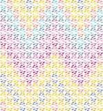 Abstract seamless chevron rainbow-coloured pattern Stock Images