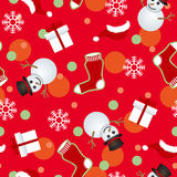 Abstract seamless christmas pattern Stock Image