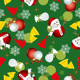 Abstract seamless christmas pattern Stock Photos