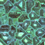 Green Abstract seamless circuit board background Stock Photography