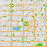 Abstract Seamless City Map Pattern Royalty Free Stock Images