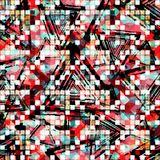 Abstract seamless color pattern in graffiti style. Quality vector illustration for your design Stock Images