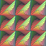 Abstract seamless colorful background with Tangle pattern Stock Photography