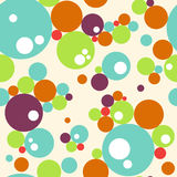 Abstract seamless colorful bubbles pattern. Vector background royalty free illustration