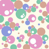 Abstract seamless colorful bubbles pattern. Vector background stock illustration