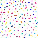 Abstract seamless colorful explosion of confetti on festive background.The design elements or gifts for decoration of Christmas ce. Lebration isolated on the Royalty Free Stock Images