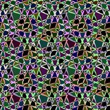 Abstract seamless colorful multicolor zigzag geometric pattern. Dark background Stock Image