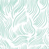 Abstract seamless colorful pattern with green hand drawn lines. Vector, illustration Royalty Free Illustration