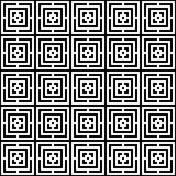 Abstract seamless colorful pattern. Modern background in black and white style. Repeating geometric tiles with rhombus elements royalty free illustration