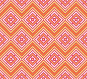 Abstract seamless colorful pattern. Modern stylish background with rhombus elements. Stock Photography