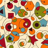 Abstract Seamless Composition. With geometric figures stock illustration