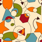Abstract Seamless Composition. With geometric figures vector illustration