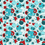 Abstract Seamless Composition. With geometric figures royalty free illustration