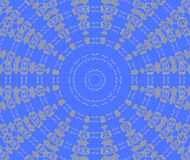 Abstract seamless concentric ornament gray blue Stock Image