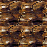 Abstract seamless copper pattern with light reflections resembling crumpled metal surface Royalty Free Stock Photography