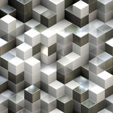 Abstract seamless cube background stock illustration