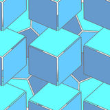 Abstract seamless 3d cubes pattern Royalty Free Stock Photo