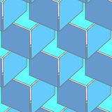 Abstract seamless 3d cubes pattern Royalty Free Stock Photos
