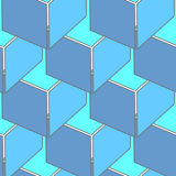 Abstract seamless 3d cubes pattern Stock Image
