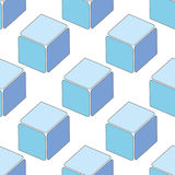 Abstract seamless 3d cubes pattern Stock Photo
