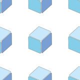 Abstract seamless 3d cubes pattern Royalty Free Stock Photography