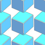 Abstract seamless 3d cubes pattern Royalty Free Stock Images