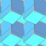 Abstract seamless 3d cubes pattern Royalty Free Stock Image