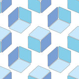 Abstract seamless 3d cubes pattern Stock Photos