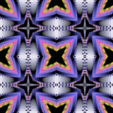 Abstract seamless 3d fractal pattern with stylized stars Royalty Free Stock Photography