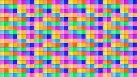 Abstract Seamless 3D Pattern Background, Colorful Backdrop, Bright Colors Cubes, Paper Art. stock illustration