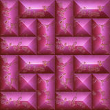 Abstract seamless 3d pattern of pink scratched stones Royalty Free Stock Images