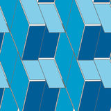 Abstract seamless 3d rhombus pattern Stock Photo