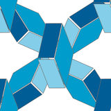 Abstract seamless 3d rhombus pattern Royalty Free Stock Photography