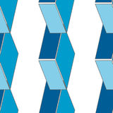 Abstract seamless 3d rhombus pattern Stock Photos